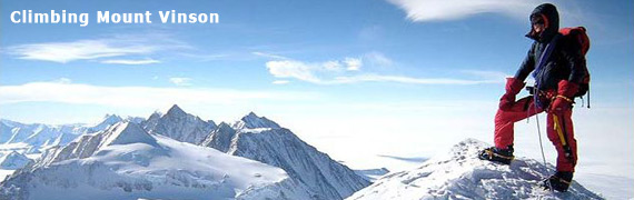 On top of the world at the bottom of the world... summiting Mount Vinson.  Credit: David Hamilton